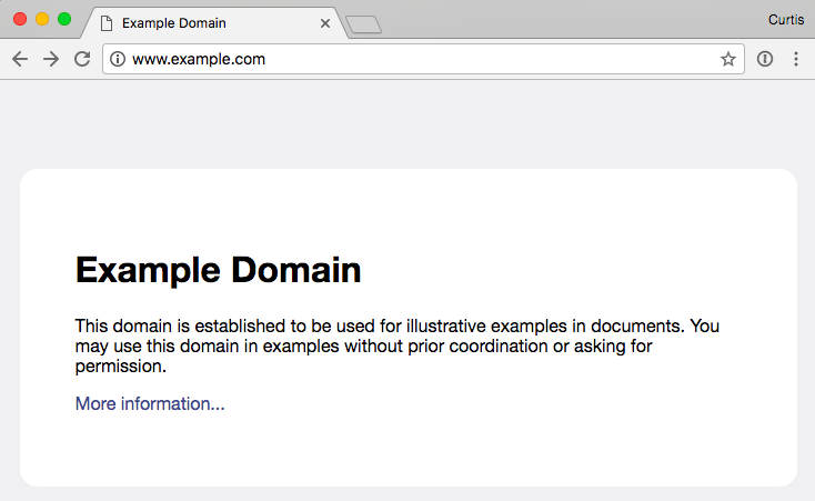 example.com on a desktop browser